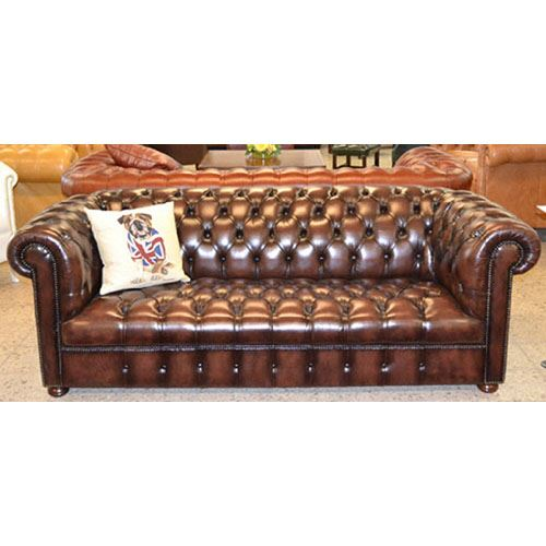 cc303sta Classic Chesterfield 3-Seater, buttoned