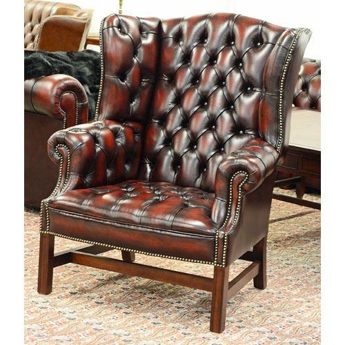 cc101la Georgian Wing Chair - buttoned