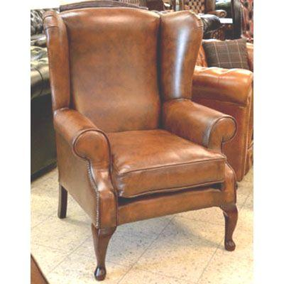 cc103p London Wing Chair - autumn tan