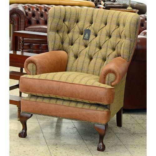 cc221ht Pamela Wing Chair - Harris Tweed