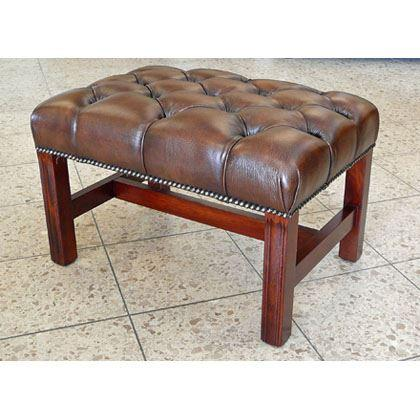 cc105a Georgian Footstool - brown