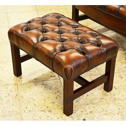 cc105a Georgian Footstool - hc tan