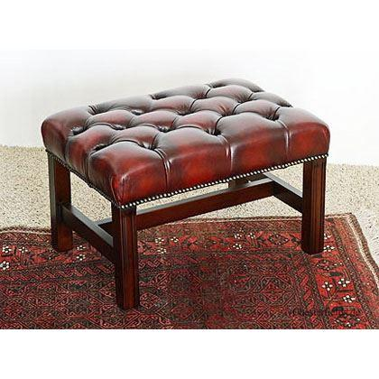 cc105a Georgian Footstool - red