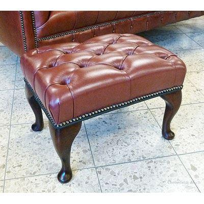cc205a Queen Anne Footstool - brandy
