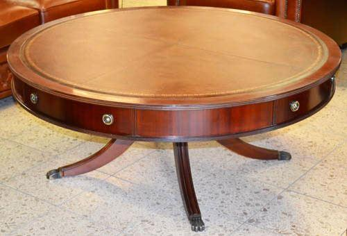 Large Round Drum Coffee Table
